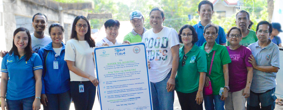 In-photo: Laguna Water Stakeholder Relations Manager Dianne Cunanan (4th from left), Mabitac Mayor Ronald Sana (5th from left), Mabitac Vice Mayor Alberto Reyes (7th from left), and representatives from Laguna Water, DILG, and Mabitac LGU.
