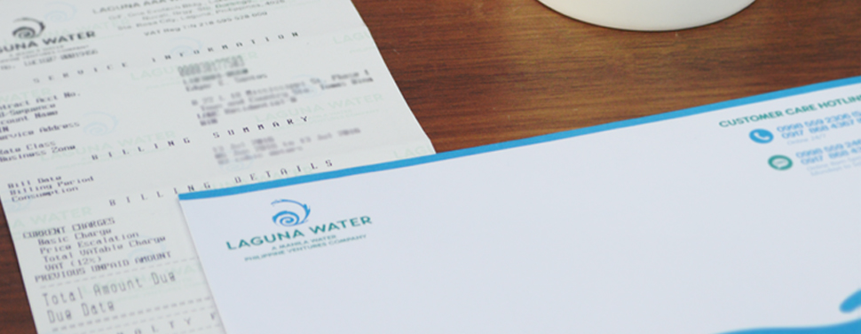 Read and Bill Process. Laguna Water  rolls out its new read and bill process that allows customers to receive their water bills right after the meter reading.