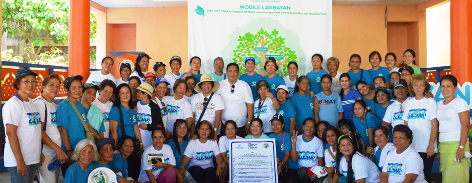 Simple Acts for the Environment. Residents of  Brgy. Marinig, Cabuyao, Laguna supports Laguna Water's call to protect and preserve the environment, especially the water systems  found in their areas.
